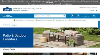 Lowe's Patio Furniture Online